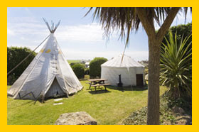 Tipi and Yurt Camping in Cornwall